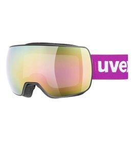 Uvex Masque de Ski Compact FM Noir-Mat/Rose