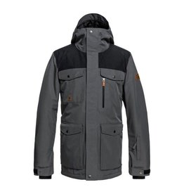 Quiksilver Men's Raft Ski Snowboard Jacket Grey Heather