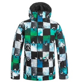 Quiksilver Men's Mission Printed Ski Snowboard Jacket Chakalapaki Bluefish