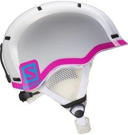 Salomon Grom Junior Helmet White Glossy Pink