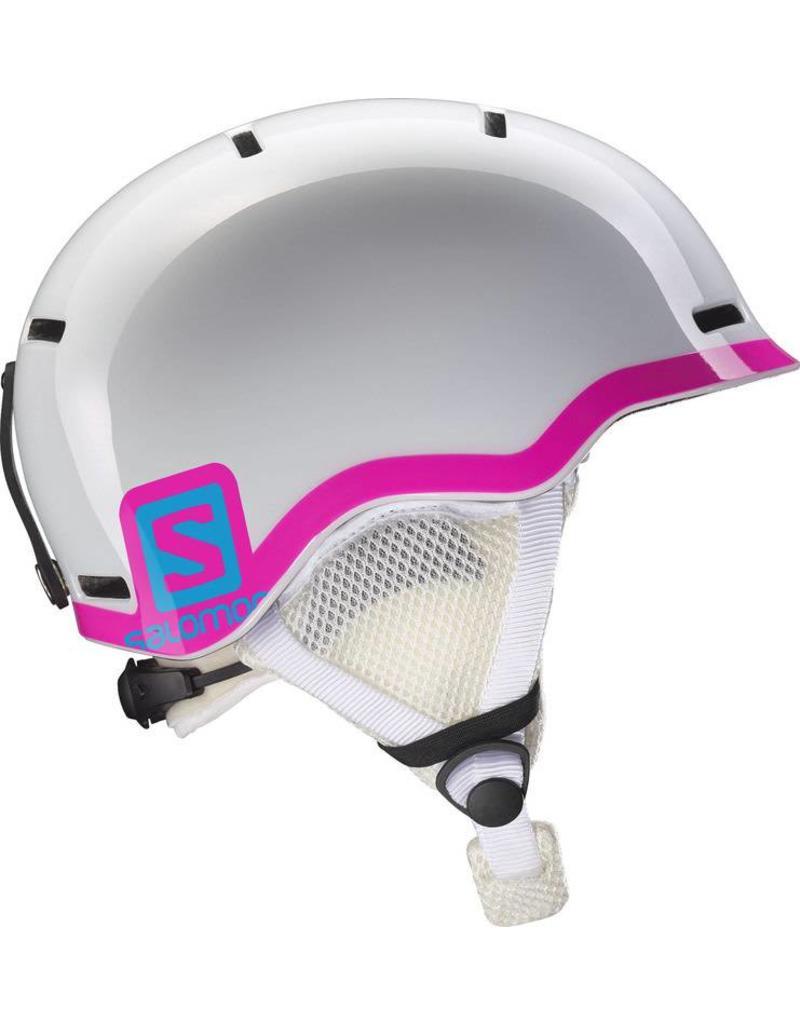 17bbdcbe2d80 Salomon Grom Junior Helmet White Glossy Pink - Ski Center Heemskerk
