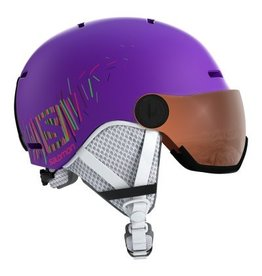 Salomon Grom Visor Helmet Junior Purple Mat