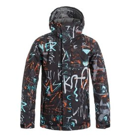 Quiksilver Mission Printed Ski/Snowboard Jacket Junior Hieline Blue