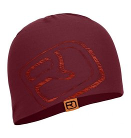 Ortovox Merino Cool Logo Beanie Dark Blood