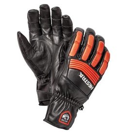 Hestra Downhill Comp Ergo Grip Gloves Black Flame Red