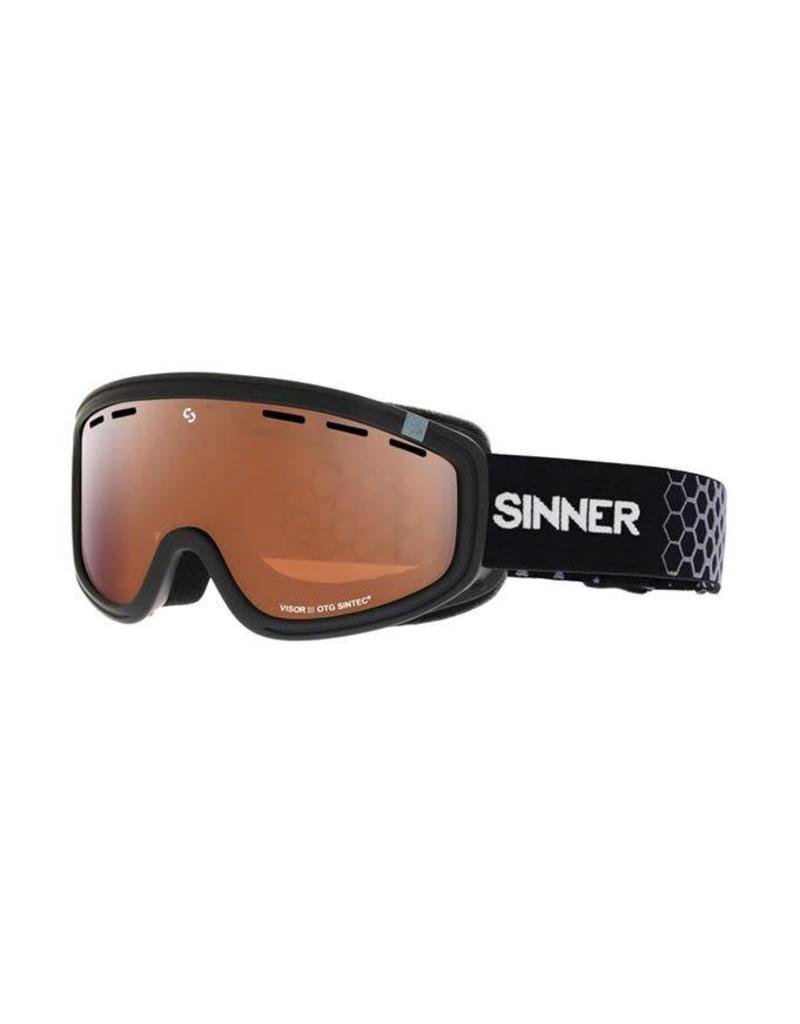 Sinner Visor III OTG Skibril Zwart Sintec