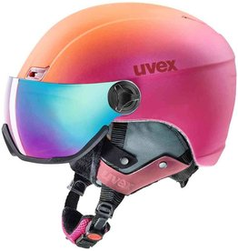Uvex Hlmt 400 Visor Style Pink Orange Metal Mat
