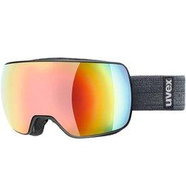 Uvex Compact FM Skibril Black-Mat/Rainbow