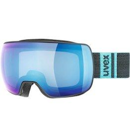 Uvex Compact FM Skibril Black-Mat/Blue