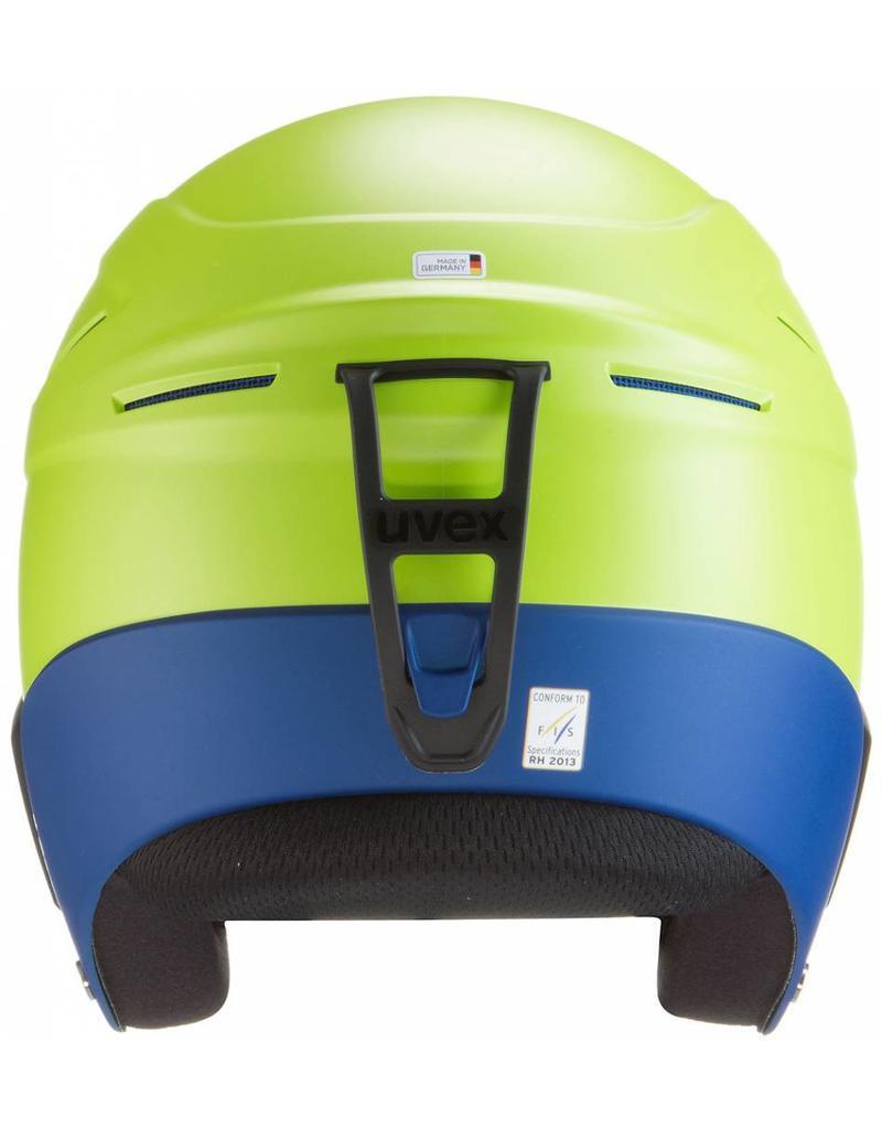 Uvex Race+ Helm Lime Cobalt Mat