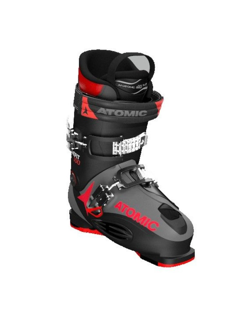 Atomic Live Fit 100 Ski Boots Black Anthracite Red