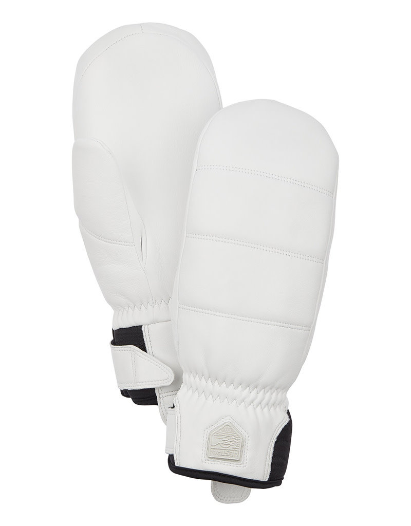 Hestra Alpine Leather Primaloft Mitt White