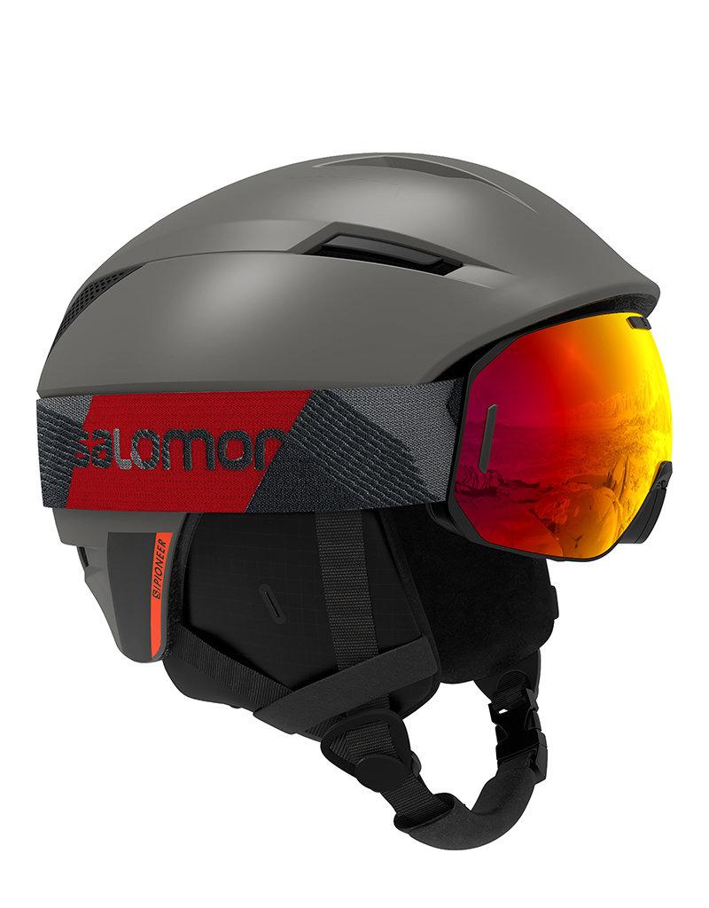 Salomon Pioneer Helm Beluga Neon Red
