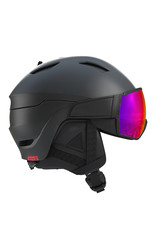 Salomon Driver Helm Black Red Accent