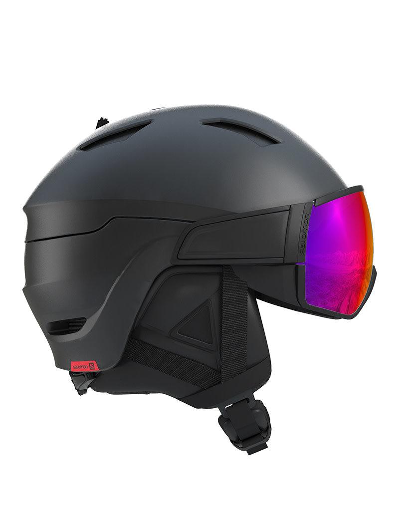 Salomon Driver Helm Black Red Accent
