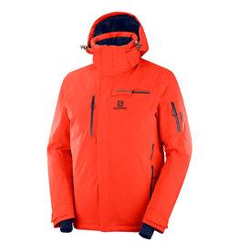 Salomon Brilliant Ski Jacket Men Cherry Tomato