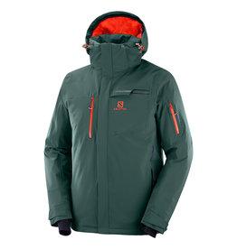 Salomon Brilliant Ski Jacket Men Green Gables