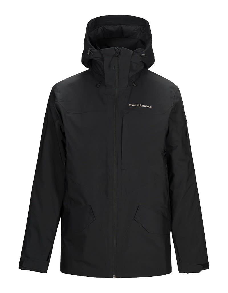Peak Performance Maroon Long Jacket Black