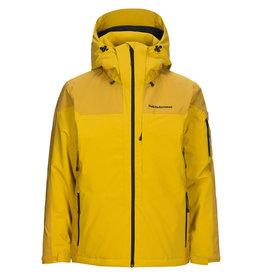 Peak Performance Maroon Race Ski Jacket Smudge Yellow