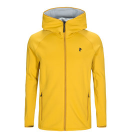 Peak Performance Chill Zip Hood Yellow Flow