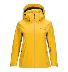 Peak Performance Women's Anima Ski Jacket Yellow Flow