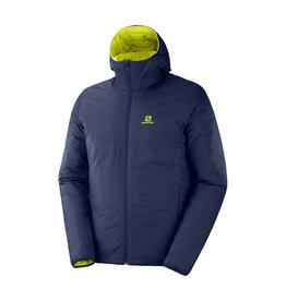 Salomon Drifter Loft Hoodie Night Sky Citronell