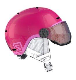Salomon Grom Visor Junior Helm Glossy Pink