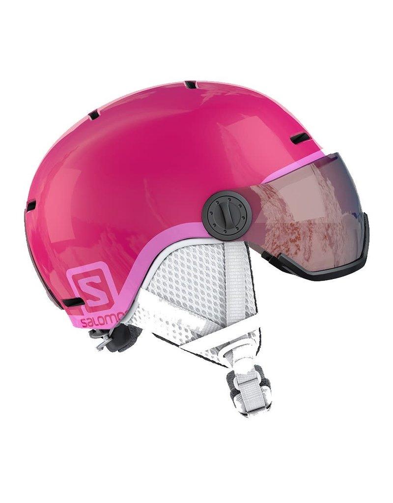 Salomon Grom Visor Junior Helmet Glossy Pink