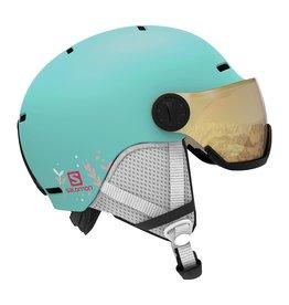 Salomon Grom Visor Junior Helmet Aruba Glossy