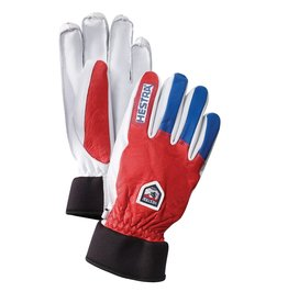 Hestra Army Leather Wool Terry Gloves Red Royal Blue