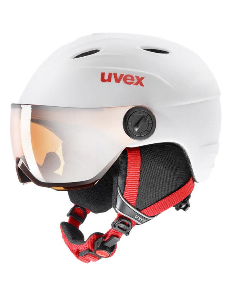 Uvex Junior Visor Pro White Red Mat