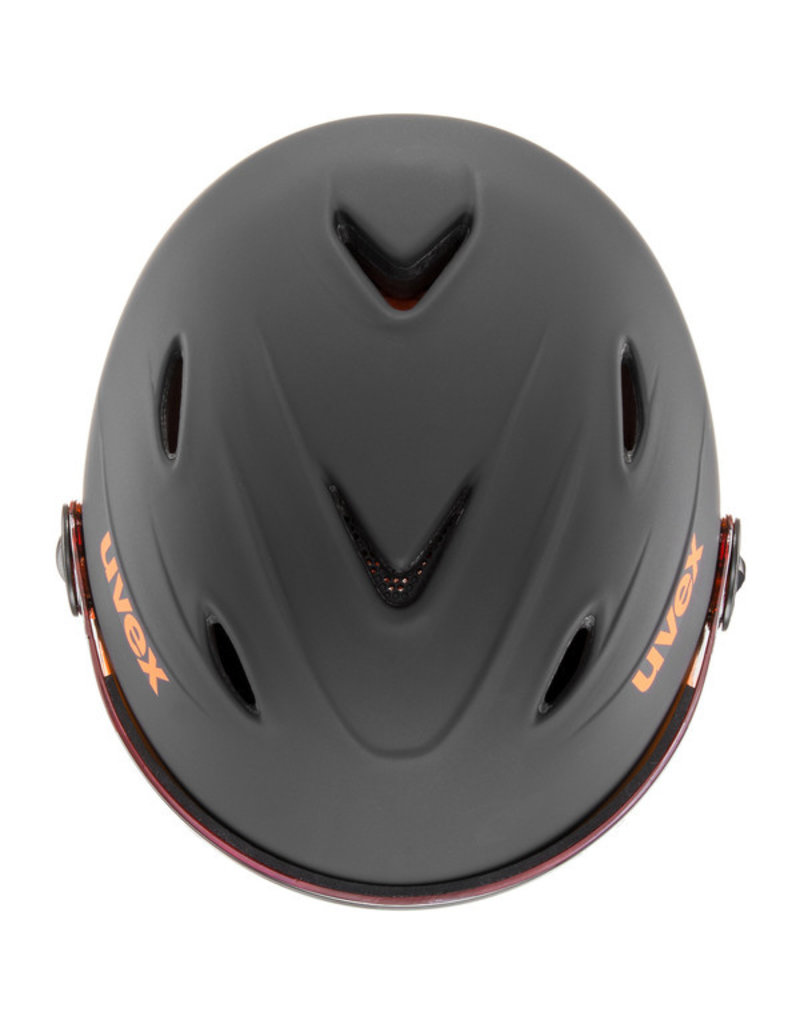 Uvex Junior Visor Pro Black Orange Mat