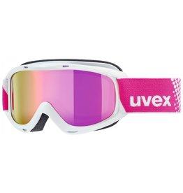 Uvex Slider FM Skibril White Pink