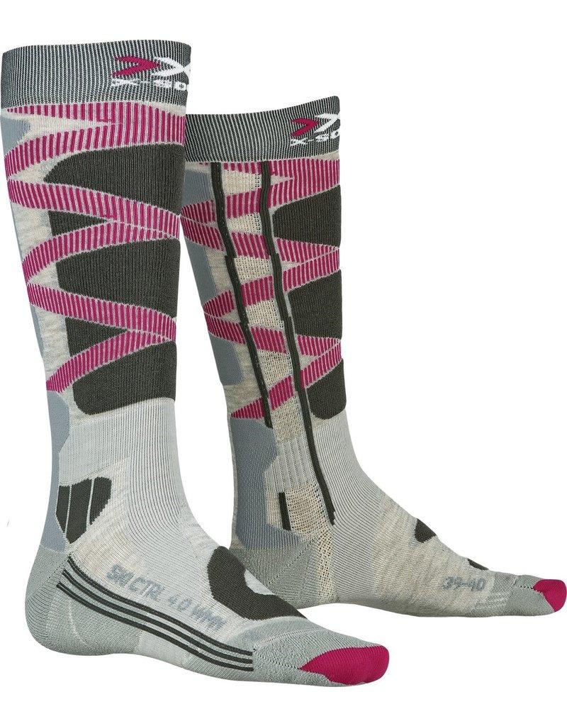 X-Socks Ski Control 4.0 Dames Sokken Grey Charcoal