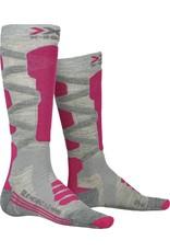 X-Socks Ski Silk Merino 4.0 Dames Sokken Grey Pink