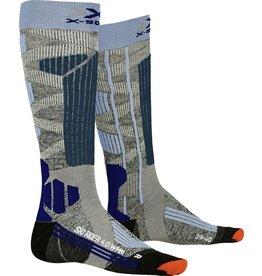 X-Socks Ski Rider 4.0 Dames Sokken Grey Blue