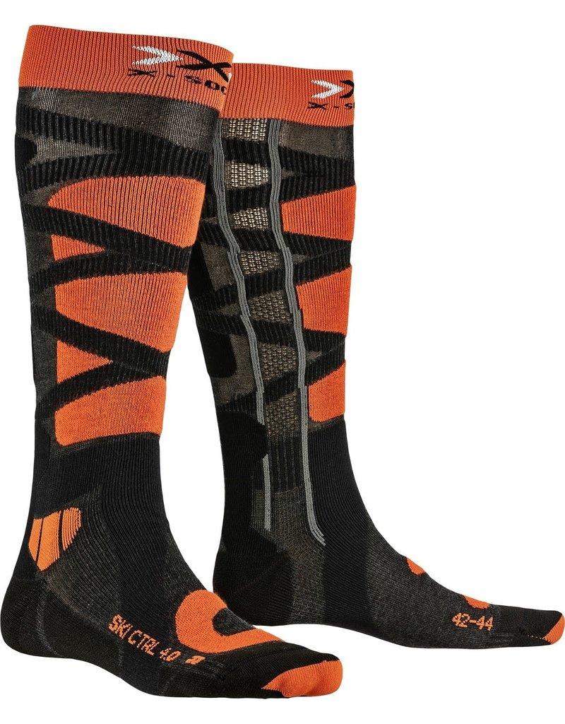 X-Socks Ski Control 4.0 Anthracite Orange
