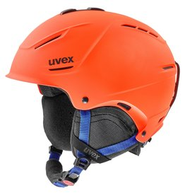 Uvex P1us 2.0 Helm Orange Blue Mat