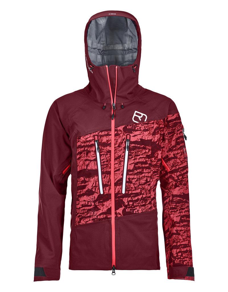 Ortovox 3L Guardian Shell Jacket W Dark Blood