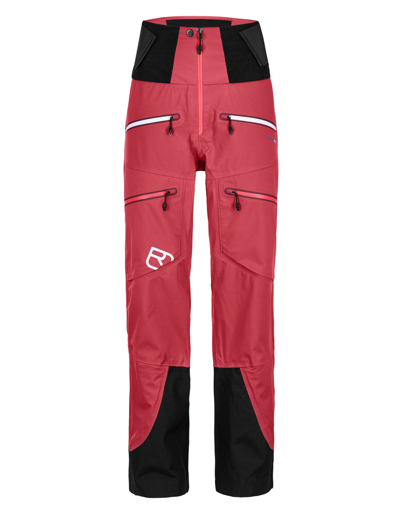 Ortovox 3L Guardian Shell Pants W Hot Coral