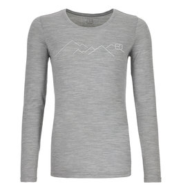 Ortovox 185 Merino Mountain Long Sleeve W Grey Blend