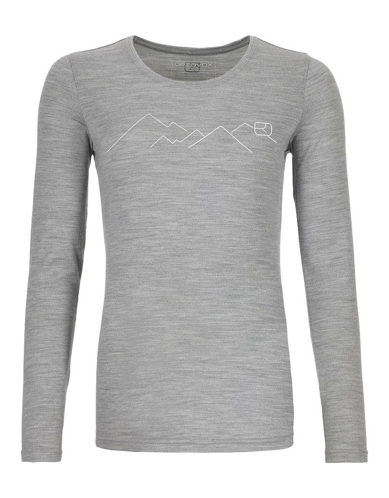Ortovox 185 Merino Mountain Long Sleeve W Grey Blend