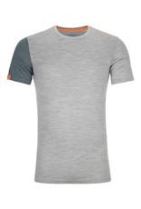 Ortovox 185 RockNWool Short Sleeve M Grey Blend