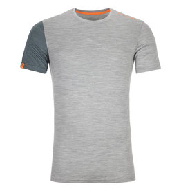 Ortovox 185 RockNWool Short Sleeve M Grey Blend