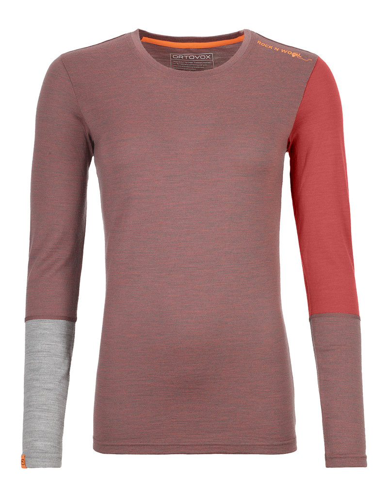 Ortovox 185 RockNWool Long Sleeve W Blush Blend