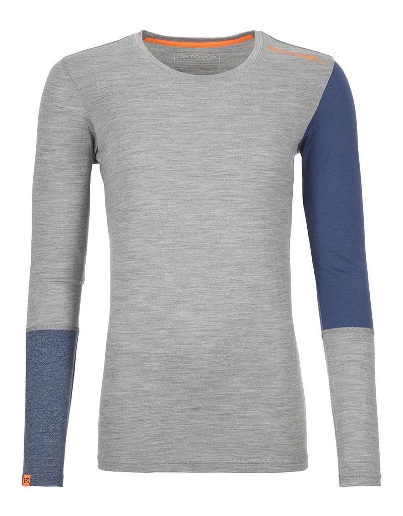 Ortovox 185 RockNWool Long Sleeve W Grey Blend