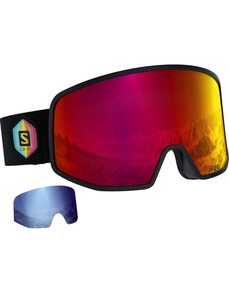 Salomon Lo Fi Sigma Goggle Black Safran