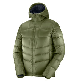 Salomon Transition Down Heren Hoodie Olive Night