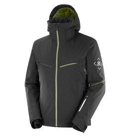 Salomon Men's Brilliant Ski Jacket Black Martini Olive White