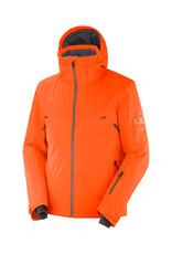 Salomon Men's Brilliant Ski Jacket Red Orange Ebony